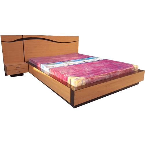 Khaki King Size Bed Without Storage