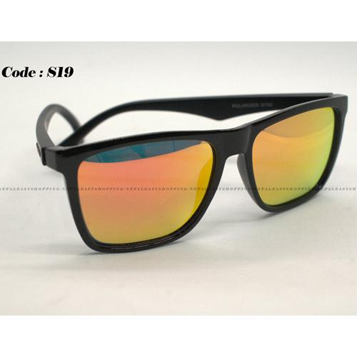 Men's Flat light Orange Sunglasses