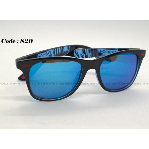 Men's Flat Light Blue Sunglasses