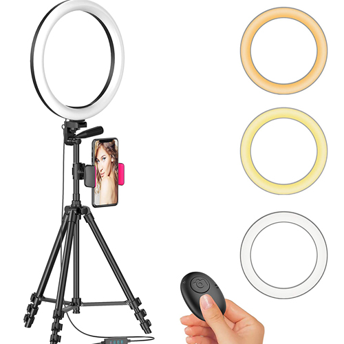 33 cm Ring Light +Mobile Holder+7 Fit Tripod Stand