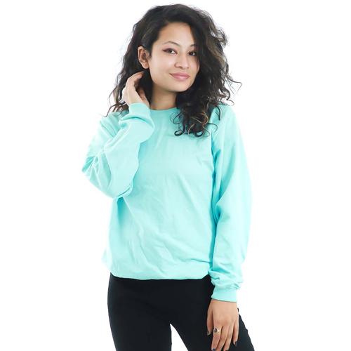 Sky Blue Sweatshirt with Long Sleeves
