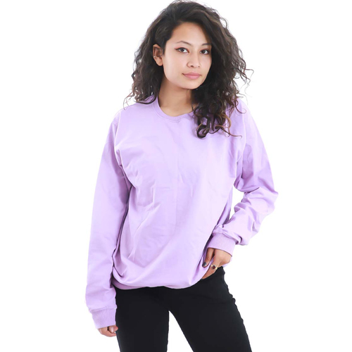 Purple Sweatshirt with Long Sleeves
