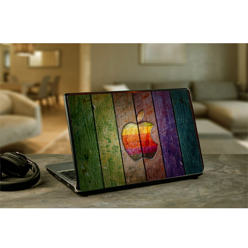 Apple Logo wood Laptop Sticker/Cover ( HP /Dell/Sony/Acer/Lenovo/Asus ) Or Notebook