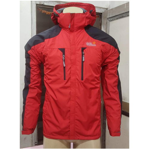 Red  Windcheater Jacket with Hoodie Cap