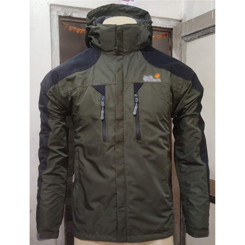 Army Green Windcheater Jacket with Hoodie Cap