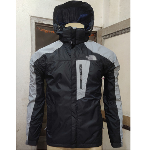 Black and Grey  Windcheater Jacket with Hoodie Cap