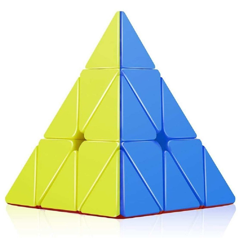 Orginal 3 X 3 Speed Pyramid Cube, Triangle, Puzzle Design, Black Color