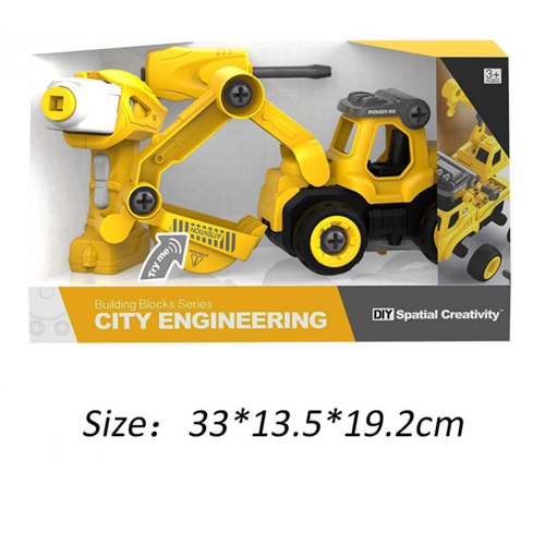 Building Blocks Rc City Engineering Truck Construction Series Toys For Child