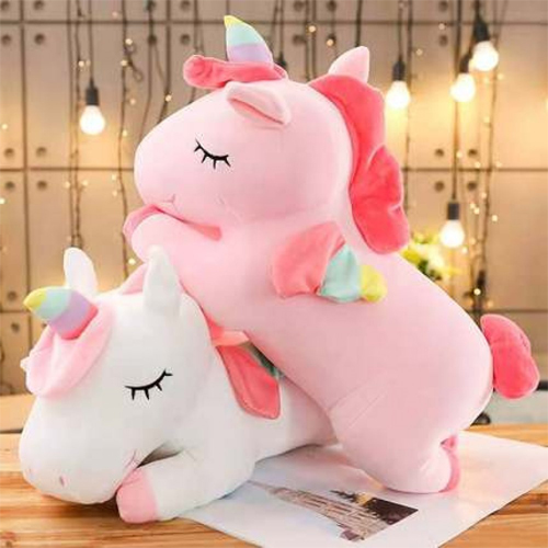 Unicorn Plush Toy Doll Pillow Girl Hug Bear Sleeping Bed Doll Girl