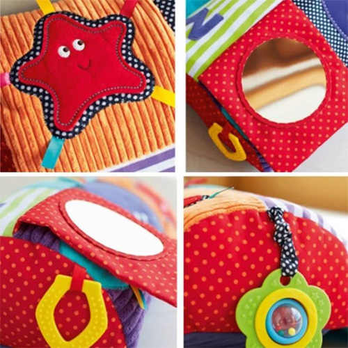 Activity Toy Bolster Blanket Crawling Pillow Baby Toddler Kids Tummy Time Toy/ Play Mat