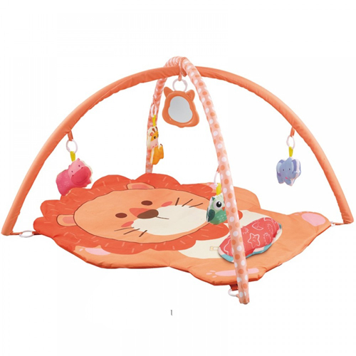 Cartoon Lion Gymnastic / Play Gym Rack With Pillow Suit Creative Baby Early Education Interactive Exercise Baby Crawling Mat