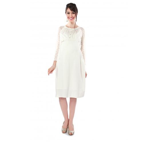 Nine White Maternity Nursing Dress 5188 Xl Size