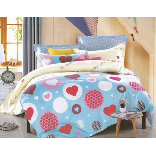 Pure Cotton King Sized Bed Sheet With 2 Pillow Covers