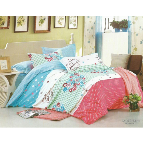Pure Cotton King Sized Bed Sheet With two Pillow Covers