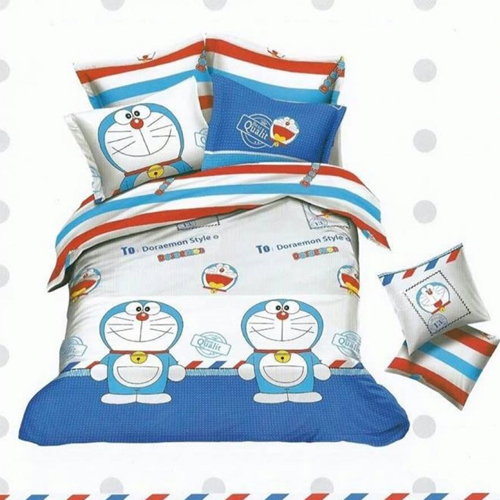 Doreamon Pure Cotton King Sized Bed Sheet With 2 Pillow Covers