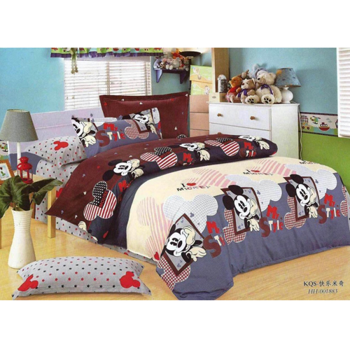 Pure Cotton minnie King Sized Bed Sheet With 2 Pillow Covers