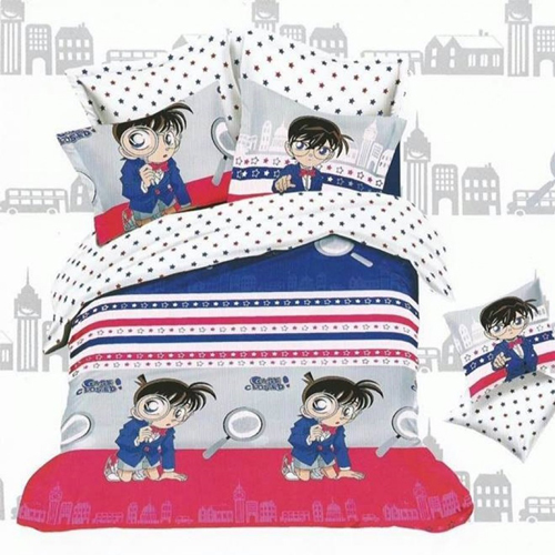 Detective Conan King Sized Bed Sheet  2 Pillow Covers