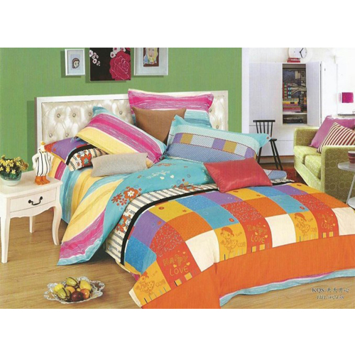 Box Square King Sized Bed Sheet  2 Pillow Covers