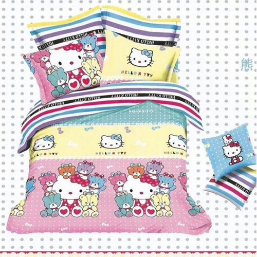 Hello kitty King Sized Bed Sheet  2 Pillow Covers