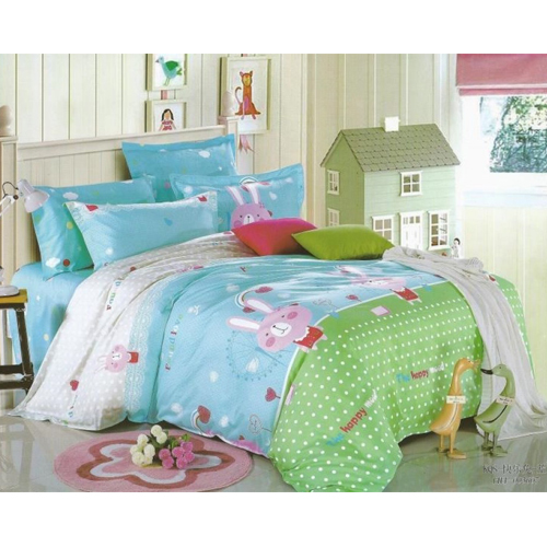 Cartoon King Sized Bed Sheet  2 Pillow Covers