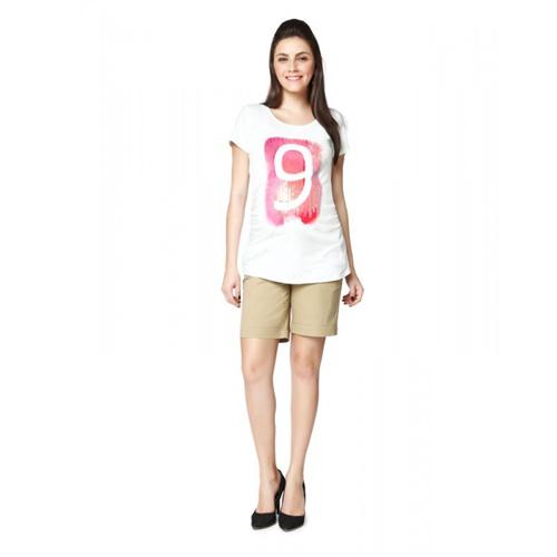Nine Maternity Nursing T-shirt In White