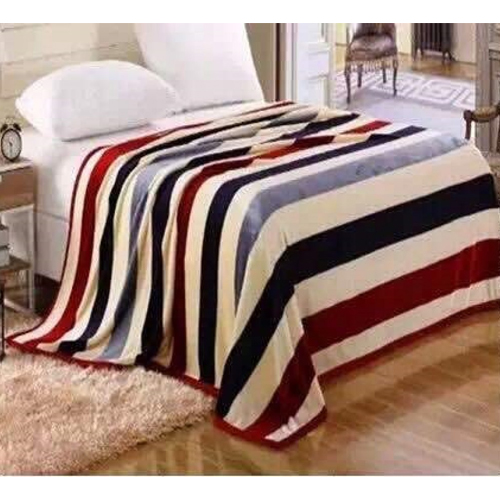 Printed Super Soft Coral Thick Flannel Blankets Single Sized