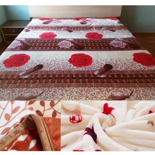 Rose Printed  Flannel Fleece Blanket