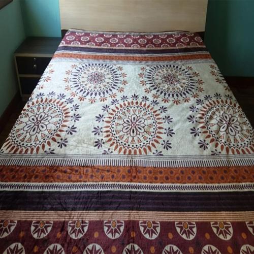 Mandala Printed Thick Flannel Fleece Blanket