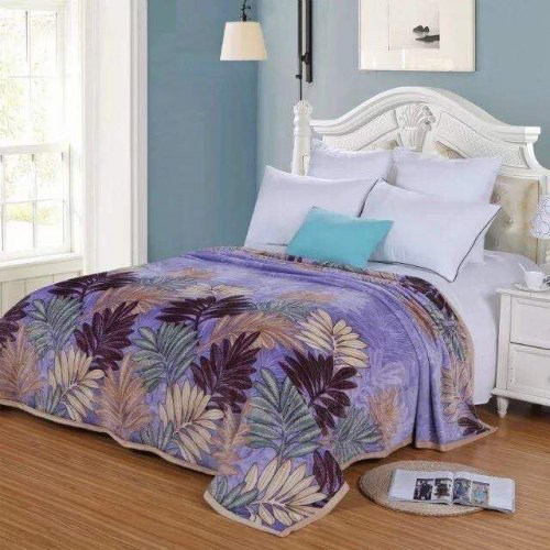Purple Warm Faux Mink Flannel Thin King Sized Bed Covers