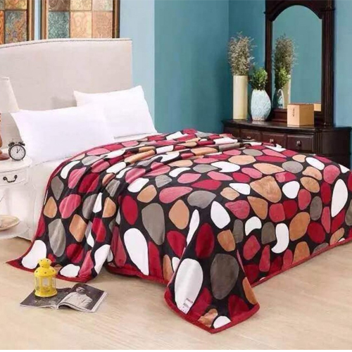 Round Warm Faux Mink Flannel Thin King Sized Bed Covers