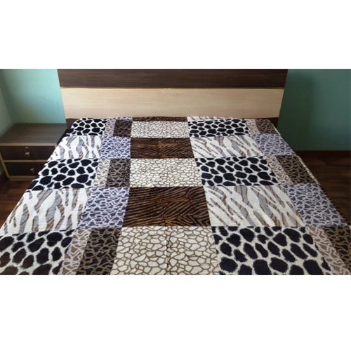 Cheetah Warm Faux Mink Flannel King Sized Bed Covers