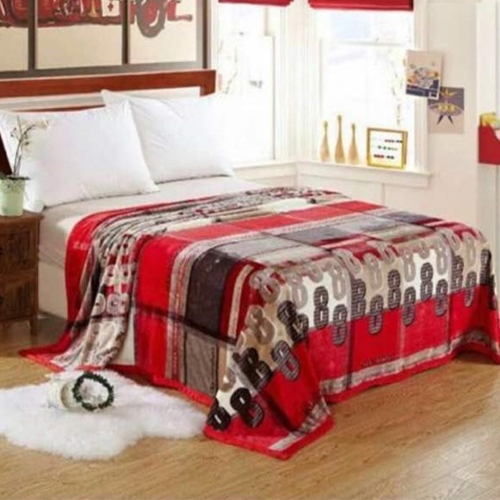 Red Warm Faux Mink Flannel King Sized Bed Covers