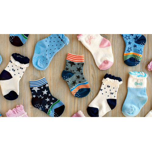 Non Skid Anti Slip Crew Socks(3 Pairs) With Grips For 0-6 Months