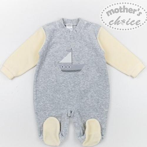 Winter Velour/fleece Baby-grower