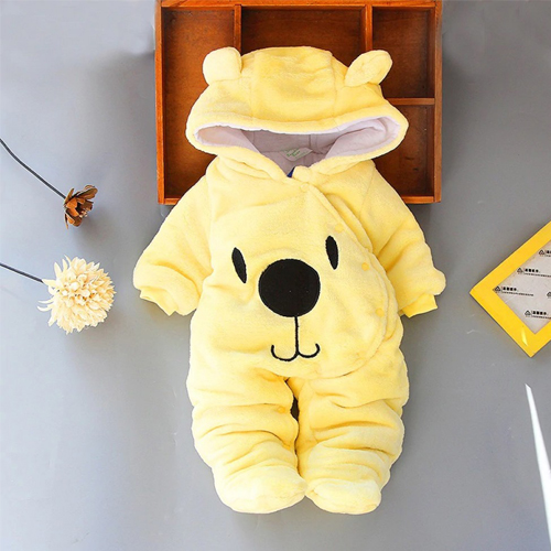 Newborn Baby Boy /girl Sleepers Infant Snowsuit Bodysuit Footie Fleece Romper Toddler Winter Outfits 0 -12 Month