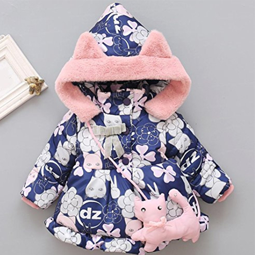 Baby Girl Winter Jacket With Toy Purse 27768