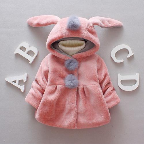 Female Baby Winter 2019 New Plus Velvet Thick Cotton Jacket 19017