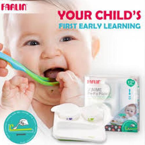 Farlin Pe-pa Plate 12+ Months Feeding Set
