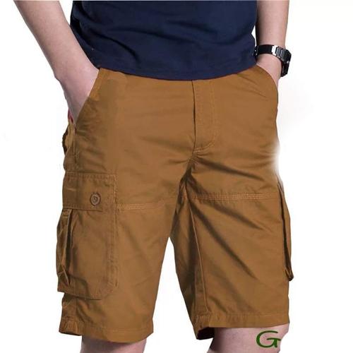Men's Brown Cotton Shorts