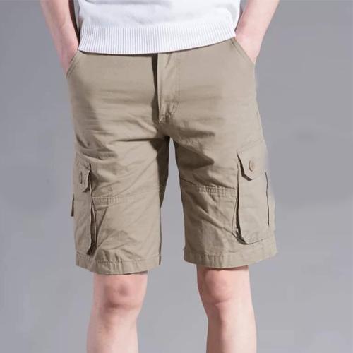 Men's Cream Color Cotton Shorts
