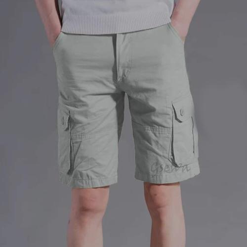 Men's Grey Color Cotton Shorts