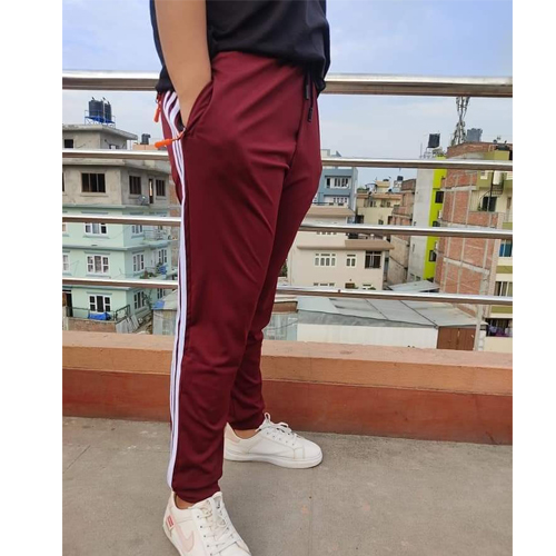Adidas Maroon Regular Track Pants