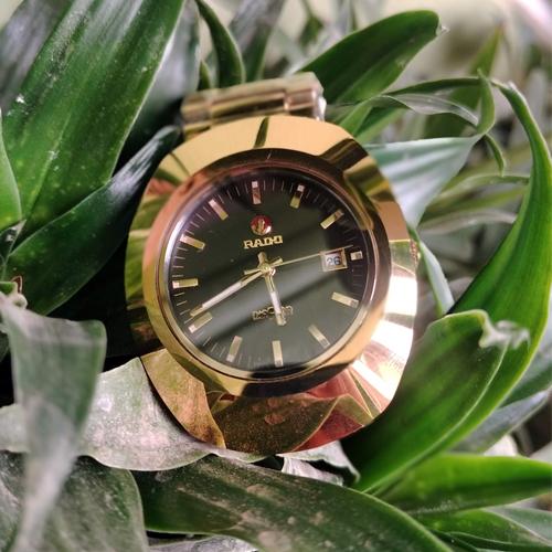 Mens Golden And Black Rado watch