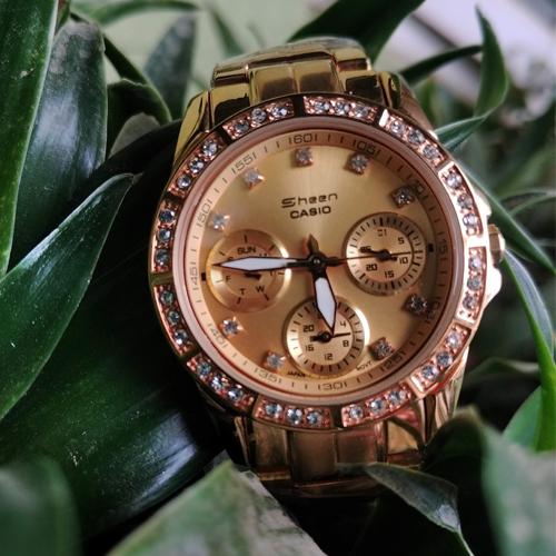 Mens Golden Sheen Casio Analog watch