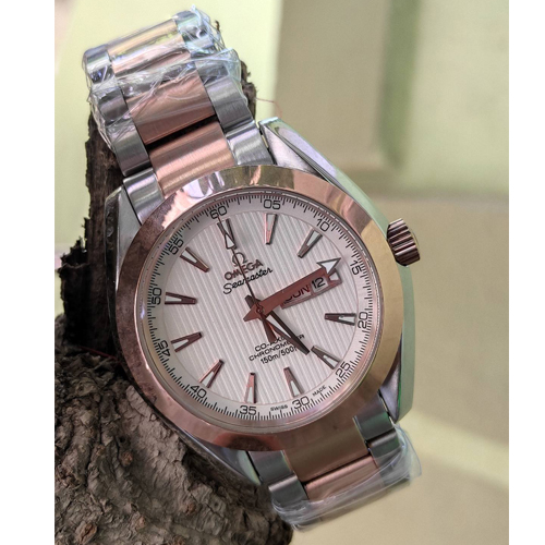 Omega Silver Seamaster Analog watch