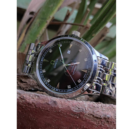 Mens Original Omega Silver Seamaster  Watch