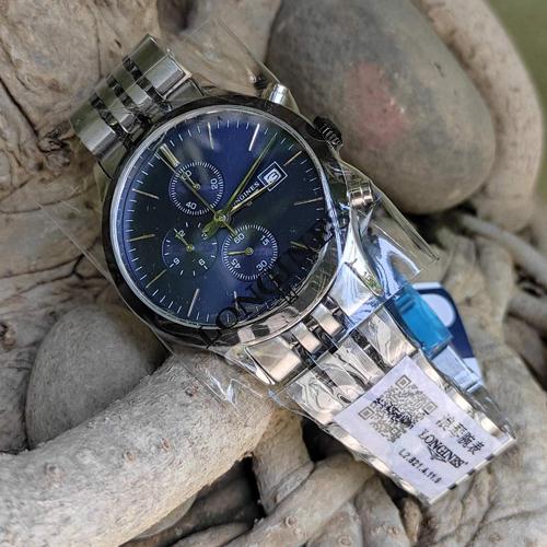 Longiness Silver Quartz Chronometer Watch