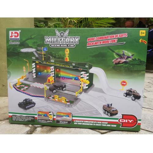 Kids Military Scene Rail Car Set