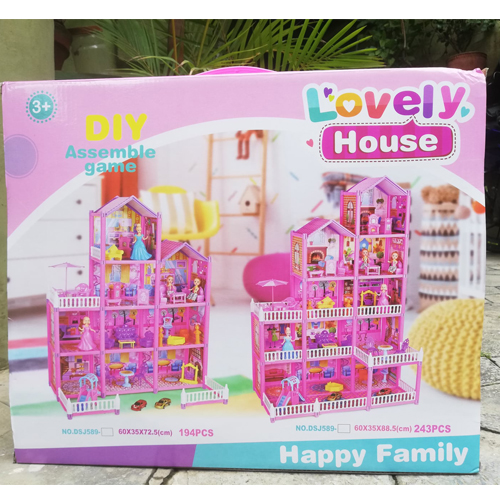 Kids DIY Barbie Lovely House Set