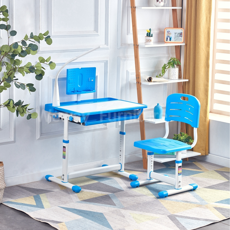 Height chair adjustable children study table with Touch Led Light